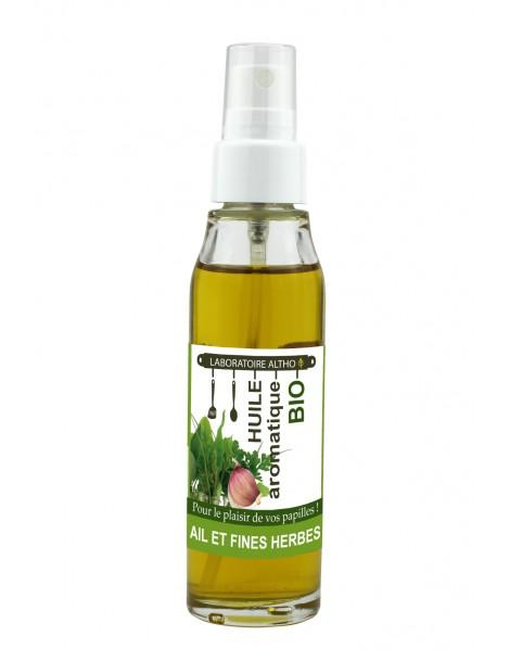 ČESNEK a BYLINKY ochucený bio olej, 50 ml